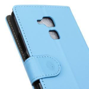Peněženkové PU kožené pouzdro na mobil Honor 7 Lite - modré - 7
