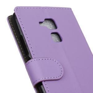 Peněženkové PU kožené pouzdro na mobil Honor 7 Lite - fialové - 7