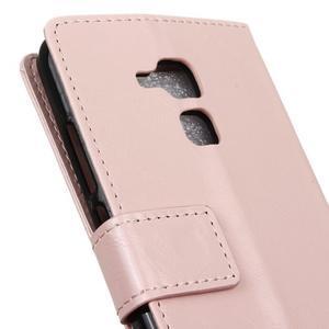 Horse PU kožené pouzdro na mobil Honor 7 Lite - růžové - 7