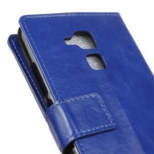 Horse PU kožené pouzdro na mobil Honor 7 Lite - modré - 7