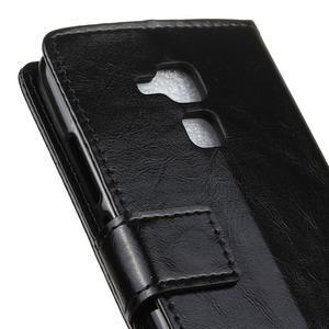 Horse PU kožené pouzdro na mobil Honor 7 Lite - černé - 7
