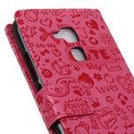 Cartoo pouzdro na mobil Honor 7 Lite - rose - 7/7