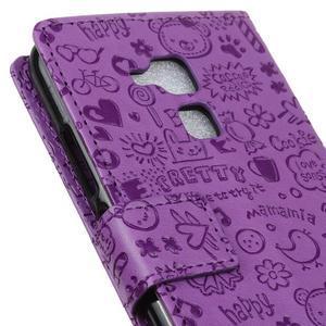 Cartoo pouzdro na mobil Honor 7 Lite - fialové - 7
