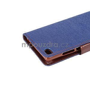 Stylové peněženkové pouzdro Jeans na Huawei Ascend P8 - tmavě modré - 7