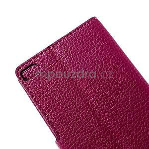 Peněženkové PU kožené pouzdro Huawei Ascend P8 - rose - 7