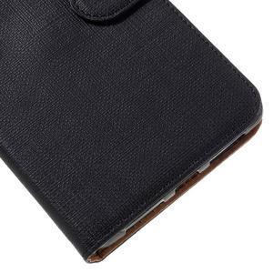 Clothy PU kožené pouzdro na Huawei Mate 8 - černé - 7