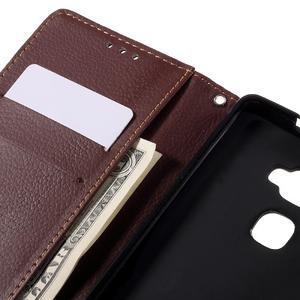 Knížkové PU kožené pouzdro na mobil Huawei Mate S - černé - 7