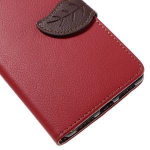 Knížkové PU kožené pouzdro na mobil Huawei Mate S - červené - 7