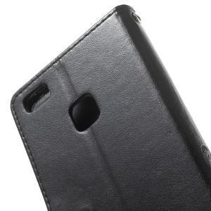 Cloverleaf peněženkové pouzdro s kamínky na Huawei P9 Lite - černé - 7