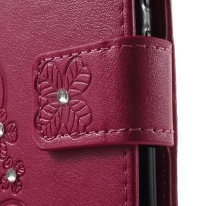 Cloverleaf peněženkové pouzdro s kamínky na Huawei P9 Lite - rose - 7