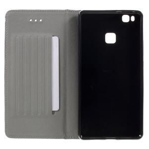 Klopové pouzdro na mobil Huawei P9 Lite - béžové - 7
