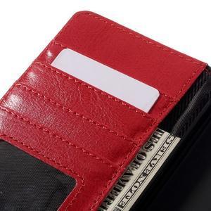 Peněženkové pouzdro na mobil Huawei P9 Lite - černé/červené - 7