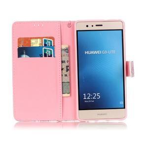 Knížkové PU kožené pouzdro na Huawei P9 Lite - medvídek - 7
