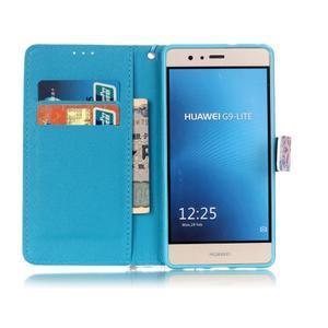 Knížkové PU kožené pouzdro na Huawei P9 Lite - mandala - 7