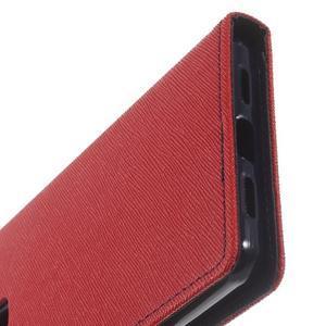 Diary PU kožené pouzdro na telefon Huawei P9 Lite - červené - 7