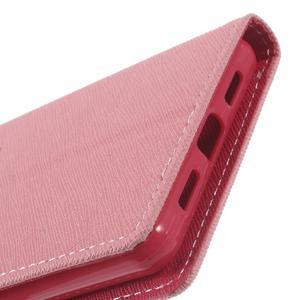 Diary PU kožené pouzdro na telefon Huawei P9 Lite - růžové - 7