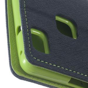 Diary PU kožené pouzdro na telefon Huawei P9 Lite - tmavěmodré - 7