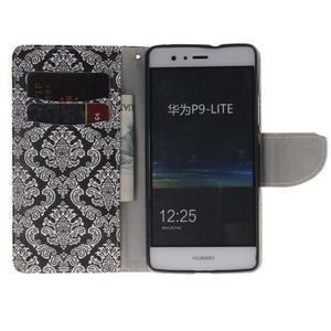 Lethy knížkové pouzdro na telefon Huawei P9 Lite - damask - 7