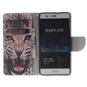 Lethy knížkové pouzdro na telefon Huawei P9 Lite - gepard - 7