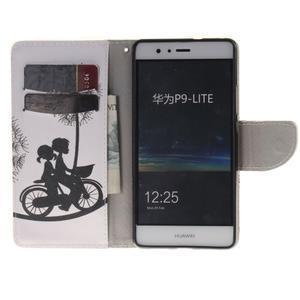 Lethy knížkové pouzdro na telefon Huawei P9 Lite - láska na kole - 7
