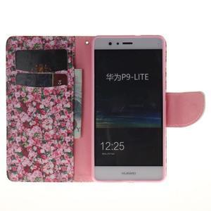 Lethy knížkové pouzdro na telefon Huawei P9 Lite - koláž růží - 7