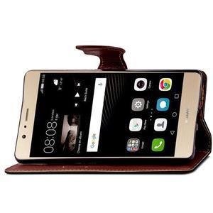 Leaf PU kožené pouzdro na Huawei P9 Lite - černé - 7