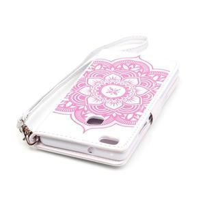 Dream PU kožené pouzdro s kamínky na Huawei P9 Lite - růžové/bílé - 7