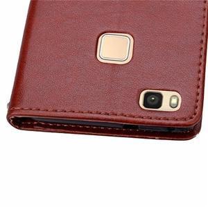 Cloverleaf peněženkové pouzdro na Huawei P9 Lite - hnědé - 7