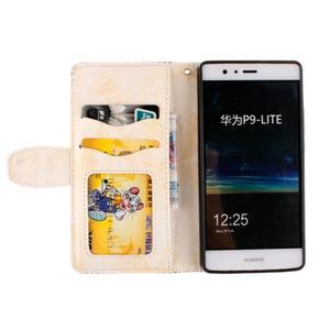 Mandala PU kožené pouzdro na Huawei P9 Lite - béžové - 7