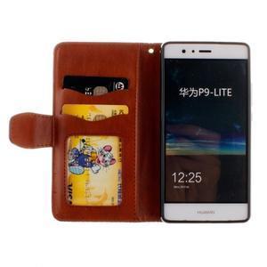 Mandala PU kožené pouzdro na Huawei P9 Lite - hnědé - 7