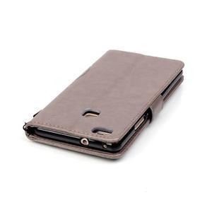 Magicfly knížkové pouzdro na telefon Huawei P9 Lite - šedé - 7