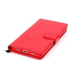 Magicfly knížkové pouzdro na telefon Huawei P9 Lite - červené - 7