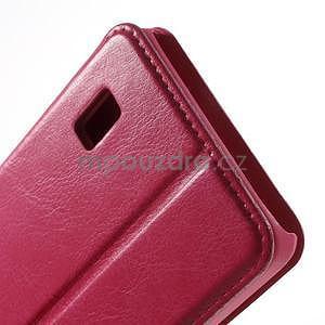 Rose PU kožené pouzdro na Huawei Y635 - 7