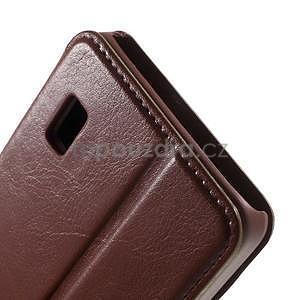 Hnědé PU kožené pouzdro na Huawei Y635 - 7
