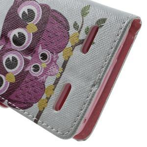 Emotive peněženkové pouzdro na mobil Lenovo A6000 - soví rodinka - 7