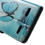 Emotive peněženkové pouzdro na mobil Lenovo A6000 - modrý motýl - 7/7