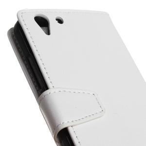 Knížkové PU kožené pouzdro na Lenovo Vibe K5 / K5 Plus - bílé - 7