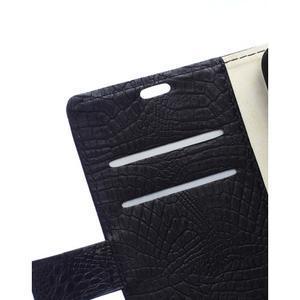 Croco PU kožené pouzdro na mobil Lenovo Vibe S1 - černé - 7