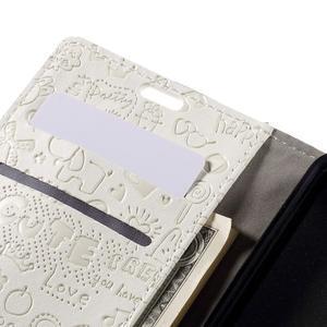 Cartoo peněženkové pouzdro na Lenovo Vibe S1 - bílé - 7