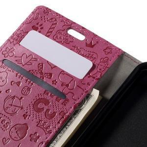 Cartoo peněženkové pouzdro na Lenovo Vibe S1 - rose - 7