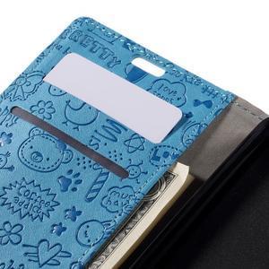 Cartoo peněženkové pouzdro na Lenovo Vibe S1 - modré - 7