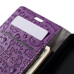 Cartoo peněženkové pouzdro na Lenovo Vibe S1 - fialové - 7