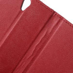 Peněženkové pouzdro na mobil Lenovo Vibe S1 - červené - 7