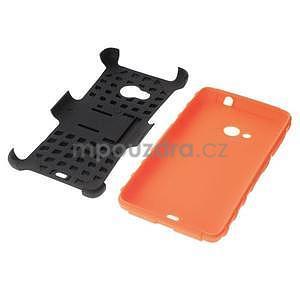 Vysoce odolný obal pro Microsoft Lumia 535 - oranžový - 7
