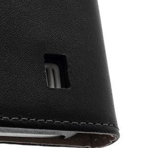 Černé flipové pouzdro mobil na Samsung Galaxy IV mini - 7
