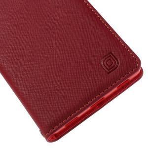 Style peněženkové pouzdro na Huawei Ascend P8 - červené - 7