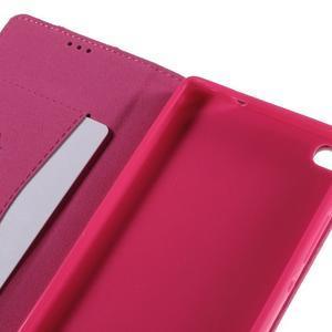 Style peněženkové pouzdro na Huawei Ascend P8 - rose - 7