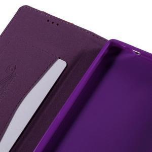 Style peněženkové pouzdro na Huawei Ascend P8 - fialové - 7
