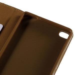 Style peněženkové pouzdro na Huawei Ascend P8 - hnědé - 7