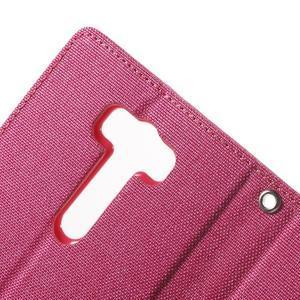 Canvas textilní/PU kožené pouzdro na Asus Zenfone 2 Laser - rose - 7
